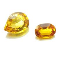 Par Pedras Preciosas Topazio Amarelo Reconstituido J14362
