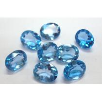Frete Grátis Topázio Azul 8x10 - 1 Pedra.