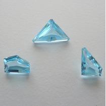 Topázio Natural Pedra Preciosa Na Cor Sky Blue 3 Gemas 2830