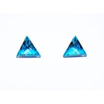Topázio London Blue 2 Gemas Trillian Com 1,54ct Par E 7,35mm