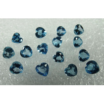 0,30 Cts!!! Topázio Azul Swiss Coração 4 Mm - Preço/pedra