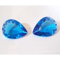 Frete Grátis - Cristal Topázio Swiss 20 X 15 - 2 Pedras