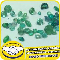 Lote 93 Turmalinas Paraíba Azul Verde - Originais - Naturais