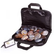 Kit De Pedras Quentes+ Bolsa Aquecedora 110 Volts +9cristais
