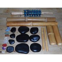 Kit De Pedras Quentes Vulcânicas , Bambus E Rolo Turbinada