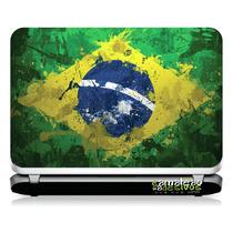 # 15 Adesivo Notebook Bandeira Brasil Pintura (14,1