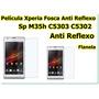 2 Pelicula Sony Xperia Sp C5303 C5302 C5306 M35h Fosca