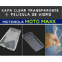 Capa Case Tpu Clear + Película Vidro Motomaxx - Frete Grátis