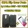 Capa Case Protetor Carteira Flip Cover Lg L Prime D337 Pret