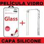 Película De Vidro Temp.+capa Silicone Iphone 4 4s - Promoção