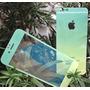 Película De Vidro Glitter Degradê Iphone 6 6s Frente Verso
