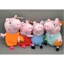 Familia Peppa Pig 4 Bonecos Pronta Entrega