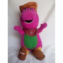 Barney Cowboy Pelúcia Com Músicas Fischer Price 30 Cm