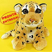 Pelúcia De Filhote De Leopardo 48cm - Grande Safari Real