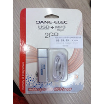 Pendrive + Mp3 Player 2gb Dane-elec