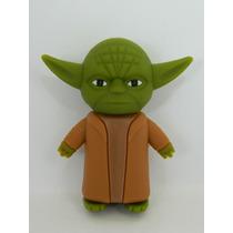 C427 - Pen Drive Mestre Yoda - Star Wars- 4gb - Emborrachado