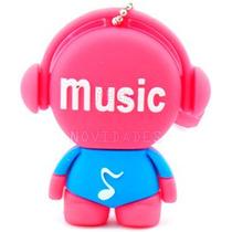 Pen Drive Personalizado Music Mp3 Vermelho 8gb