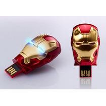 Pen Drive 8 Gb - Novo Iron Man 3 - Dourado - Frete Grátis