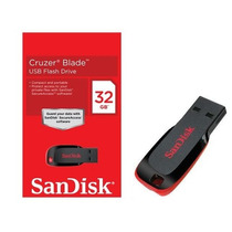 Pen Drive Sandisk 32 Gb Cruzer Blade Original *frete Gratis*