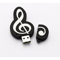Pen Drive Personalizado Símbolos De Música 8gb - Pronta Entr