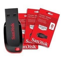 Pen Drive 8gb Sandisk Original Cruzer Blad Atacado 10pçs