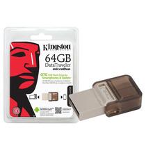 Pen Drive Dt Micro Duo 64gb Smartphone Kingston Dtduo/64gb