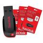 Kit 5 Pen Drive Sandisk 8gb Cruzer Blade Lacrado Original