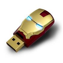 Pen Drive 8gb Iron Man Head Homem De Ferro Com Olhos De Led