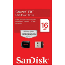 Ultra Mini Pen Drive Nano Sandisk Cruzer Fit 16gb - Lacrado