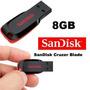 Pen Driver Sandisk 8gb Cruzer Blade - Frete Único Brasil