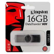 Pen Drive Kingston 16gb Preto - Dt101 Usb 2.0 100% Original