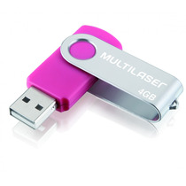Pendrive 4gb Twist 2 Rosa - Multilaser Pd686