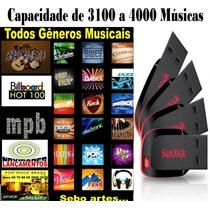 Pen Drive Musical 16gb (4000 Mil Músicas)