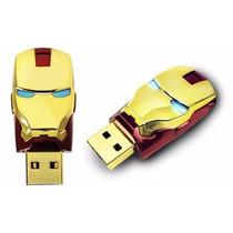 Pen Drive 8gb Homem De Ferro Iron Man Frete Grátis Garantia