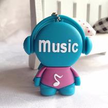 Pen Drive Personalizado Boneco Music Azul 8gb Diferente
