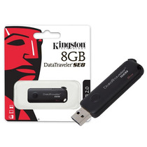 Pen Drive Usb 2.0 Datatraveler Se8 8gb Preto Kingston