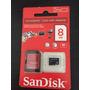Cartão De Memória Micro Sd 8gb + Adaptador Sd - Sandisk