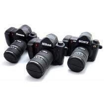 Pen Drive 4gb Personagens Câmera Fotográfica Canon Pendrive