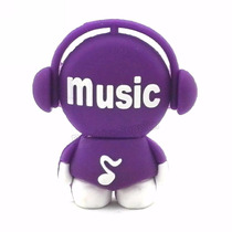 Pen Drive Personalizado Boneco Music Roxo 8gb Diferente