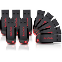 Kit 10 Pen Drive Sandisk 8gb Cruzer Blade + Brinde