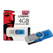 Kit 20 Pen Drive Kingston Usb 4gb Azul Datatraveler 101 G2