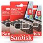 Pen Drive 16gb Sandisk Ultra Mini Micro Cruzer Fit Nano