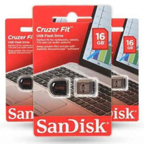 Pen Drive 16gb Sandisk Ultra Mini Micro Cruzer Fit Nano