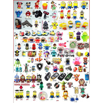 Pendrive Personagens Chaves Minions Peppa Minie Camera 4gb