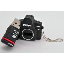Câmera Canon 5d Pen Drive 4gb Chaveiro Kit 10 Peças