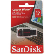 Pendrive Sandisk 16gb Cruzer Blade - Frete Único Brasil