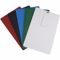 6 Un. Pen Drive Cartão Liso 8gb, Personalizável