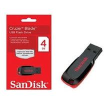Pen Drive Sandisk 4 Gb Cruzer Blade Original O Mais Barato!