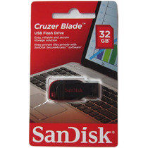 Pen Drive Sandisk 32 Gb Cruzer Blade 100% Original O Melhor!