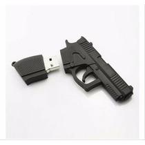 Pendrive 8 Gb Personalizado Pistola Arma Revolver